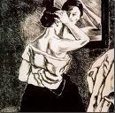 Mujer ante el espejo litografia