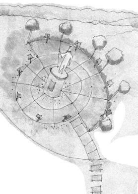 plano plaza estatua albizu