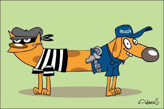 Dibujo del caricaturista mexicano Alecus