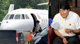 Morales noticia sobre avión