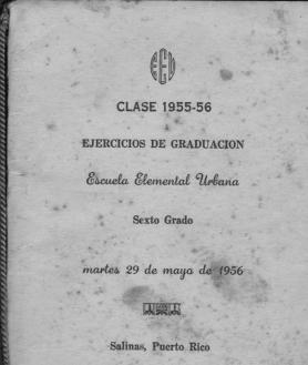portada graduación 6 grado 1956