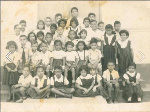 Primer grado escuela Pazalmer de Salinas, 1953