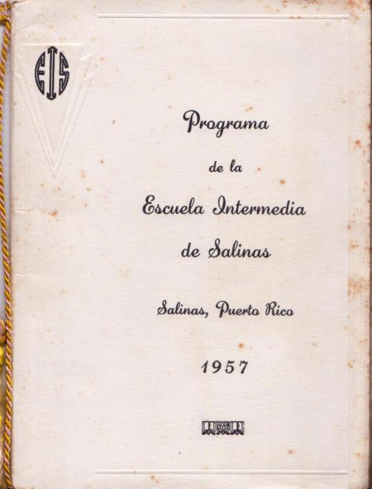 Portada Programa de Graduación Esc Intermedia 1957 001