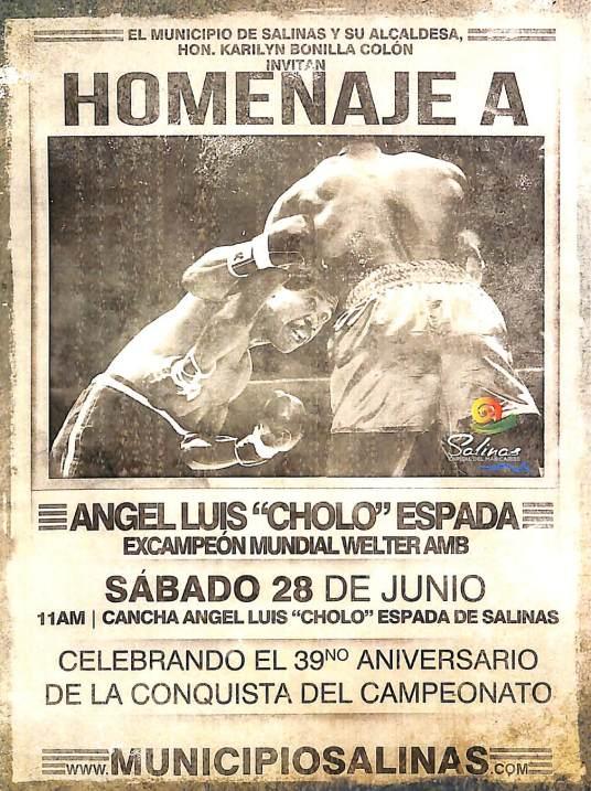 Homenaje a Cholo Espada 2014