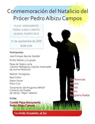Actividad Natalicio Albizu 2015
