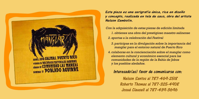 Anuncio cartel Festival Manglar