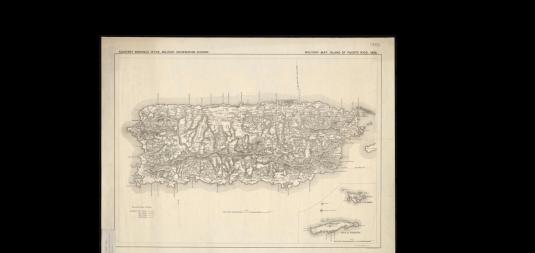 Mapa 1898 de Puerto Rico