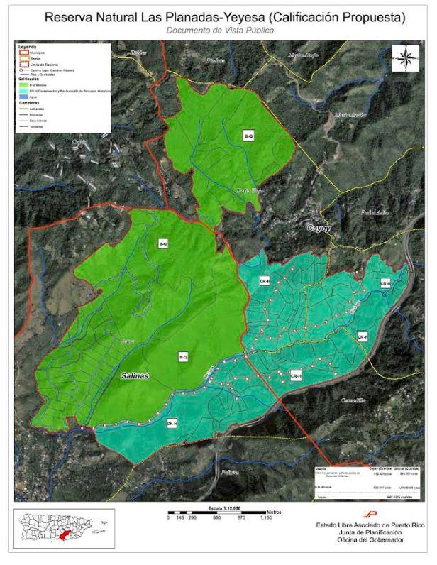 mapa Reserva Planada Yeyesa